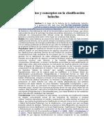 Tendencias y Conceptos en La Clasificación Helecho
