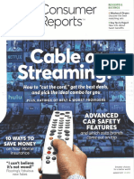 Consumer Reports - Cable and Streaming Video Television Options