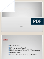 Ch. 1 Introduction to Taxation