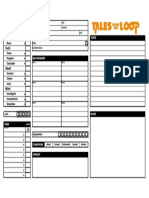 Tales from the Loop - PDF Form Fillable Character Sheet
