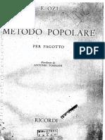 E. OZI - Metodo Popolare Per Fagotto