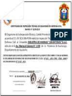 Certificado de Inspeccion