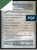 Licencia de Funcioamiento