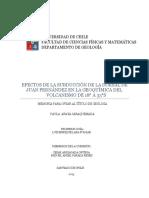 Efectos de La Subduccion de La Dorsal de Juan Fernandez en La Geoquimica Del Volcanismo