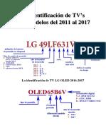 La Identificación de TV's LG Modelos Del 2011 Al 2017