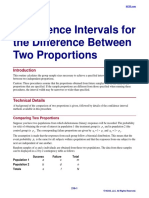 Confidence Intervals for the Difference Between Two Proportions