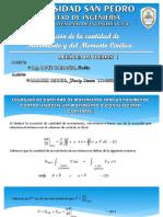 Ecuación de La Cantidad de Movimiento y Del Momento Cinético 2und