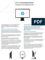 HP EliteDisplay E221 Datasheet