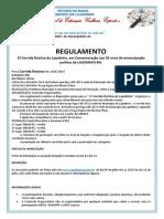 REGULAMENTO DE ATLETISMO