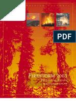 Fires Storm Report