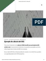 Ejemplo de Cálculo Del OEE