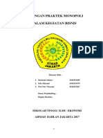 FIX MAKALAH LARANGAN PRAKTEK  MONOPOLI.docx