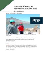 Tacna Se Resiste a Integrar Consejo de Cuenca Hídrica Con Los Moqueguanos