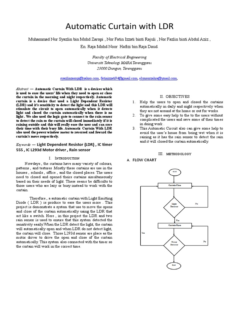 Technical Paper Computer Engineering Electromagnetism Using 555 Timer And Light Dependent Resistorldr Build Circuit