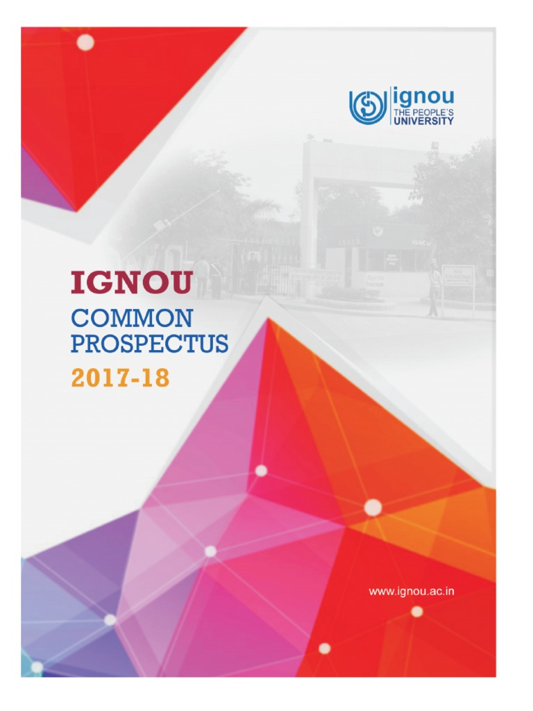 IGNOU Common Pros2017 | Distance Education | University And