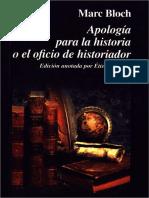 Bloch_Apologia Para La Historia o El Oficio Del Historiador_El Ídolo de Los Orígenes