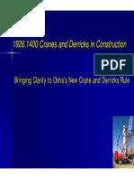 1926.1400 Cranes Derricks in Construction
