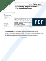 NBR 9289 - Cal Hidratada Para Argamassas - Determinacao Da Finura