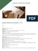 Traduccion de Las Palabras en Sanscrito Al Español - 01