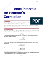 Confidence Intervals for Pearson's Correlation