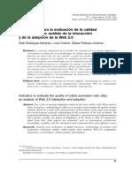 Indicadores para la evaluación de contenidos e información de páginas web
