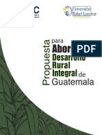 Propuesta Para Abordar El Desarrollo Rural de Guatemala
