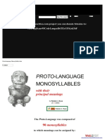 PROTO-LANGUAGE MONOSYLLABLES With Their Principal Meanings by Patrick C. Ryan
