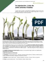 Manual Básico de Injertación_ Lista de Compatibilidad Entre Árboles Frutales