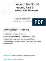 Lecture 2 Anthropology and Sociology