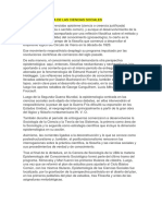 La Epistemiología de Las Ciencias Sociales