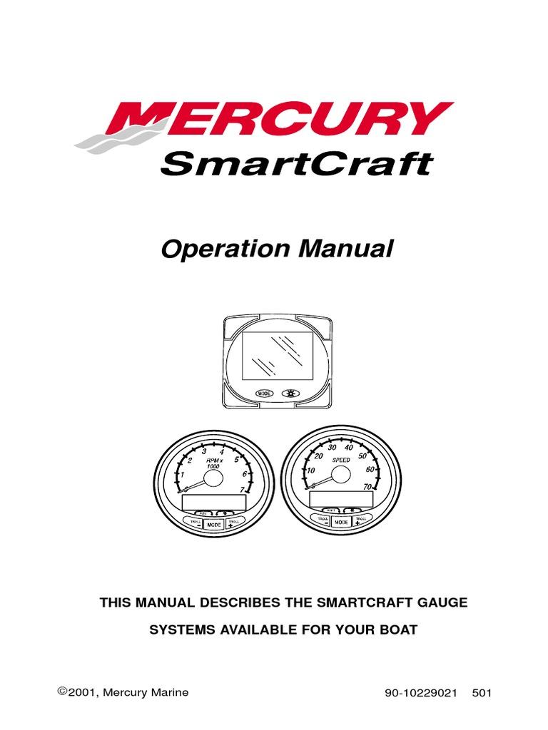 Mercury SmartCraft Operations Manual | Fahrenheit | Computer Monitor