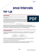 Confidence Intervals for Cp