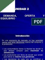 DEMANDA, OFERTA Y EQUILIBRIO
