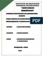 Manual de Almacenamiento de Medicamentos y Productos Medicos