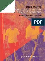Dimensiones sociales, políticas y culturales del desarrollo