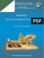 Vol. I Nr. 1 Nov. 2014 ROMANA - With Links