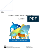 Animal Care Policy Manual