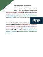 Formula Para Resumen e Introduccion para trabajos de investigacion