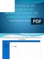 Timeline of my Exposure to The Inventions Of Evolution of Media