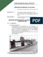 Memoria Descriptiva Proyecto Mercado
