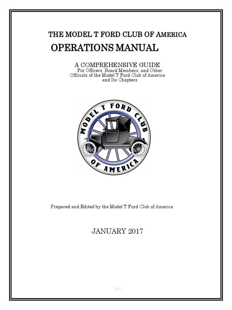 THE MODEL T FORD CLUB OF AMERICA OPERATIONS MANUAL.pdf | Board Of Directors  | Mail