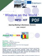 Info-Kit Bucharest Romania Window on the World KA2 14.07.2017