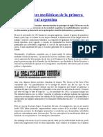 Repercusiones Mediáticas de La Primera Huelga General Argentina