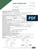 Door Checklist
