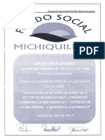 Bases integradas LP N°02-2017-CE-AFSM Bateria de Baños Quinuamayo Bajo