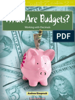 What Are Budgets Level 3 (Mathematics Readers)