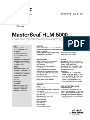 Basf Masterseal Hlm 5000 Tds | Concrete | Materials