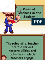Roles of Teachers in the Society
