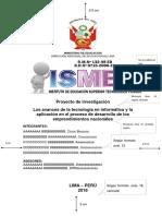 Esquema Proyecto de Tesis Ismem (III Ciclo)