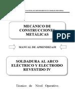 89000743 SOLDADURA AL ARCO ELÉCTRICO Y ELECTRODO REVESTIDO IV (1).pdf